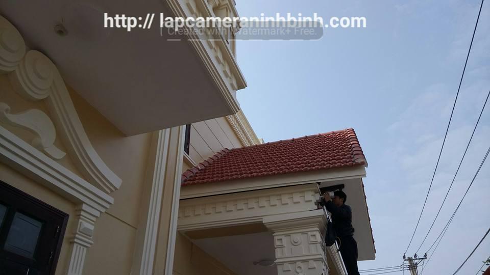 Lắp camera cho Biệt thự nhà Anh Dũng, chị Mai – P.Ninh Khánh, TP.Ninh Bình